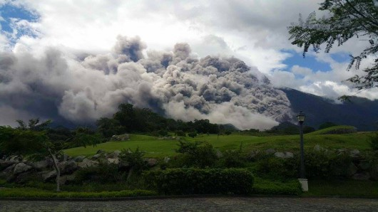 Fuego- pyroclastic flow of 10.11.2015 - photo Conred