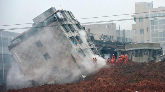 Chiny - Katastrofa w Shenzhen, osuwająca się ziemia zniszczyła 33 budynki -4