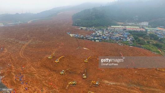 Chiny - Katastrofa w Shenzhen, osuwająca się ziemia zniszczyła 33 budynki -7