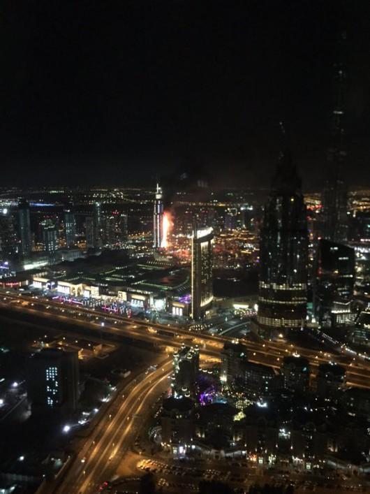 Dubaj, ZEA - Potężny pożar drapacza chmur -4