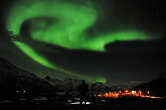 Dzisiejsze zorze polarne w pobliżu bieguna -1