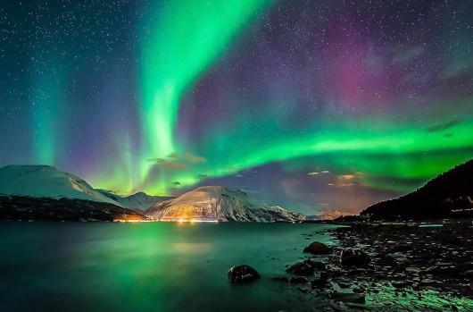 Dzisiejsze zorze polarne w pobliżu bieguna -2