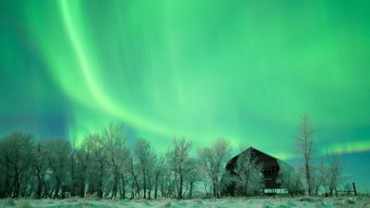 Dzisiejsze zorze polarne w pobliżu bieguna -3