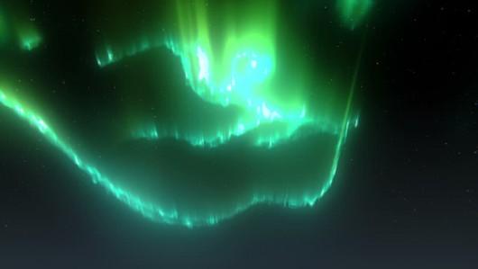 Dzisiejsze zorze polarne w pobliżu bieguna -4