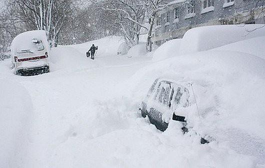 Kamczatka, Rosja - Ogromna śnieżyca -3