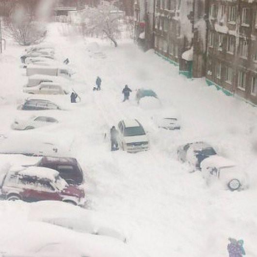 Kamczatka, Rosja - Ogromna śnieżyca -6