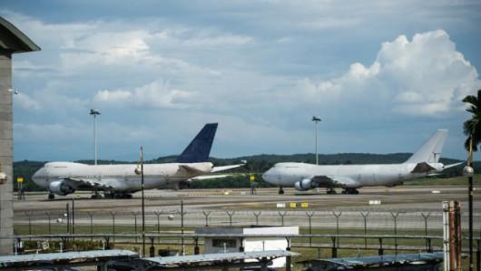 Malezja - Ktoś porzucił trzy Boeingi 747-200 w międzynarodowym porcie lotniczym w Kuala Lumpur
