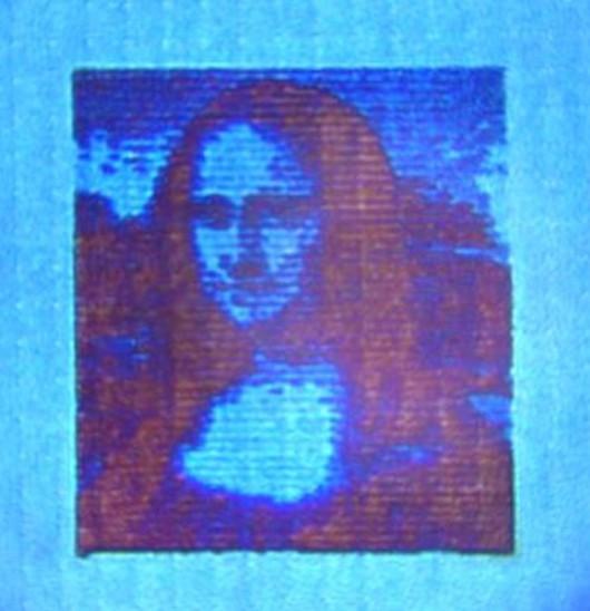 Mona Lisa wydrukowana w technologii nanodruku