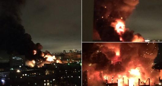 Rosja - Największy pożar w Moskwie od 25 lat -1