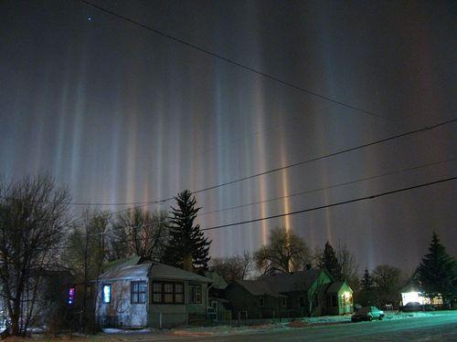 Rosja - Słupy słoneczne na Syberii -1