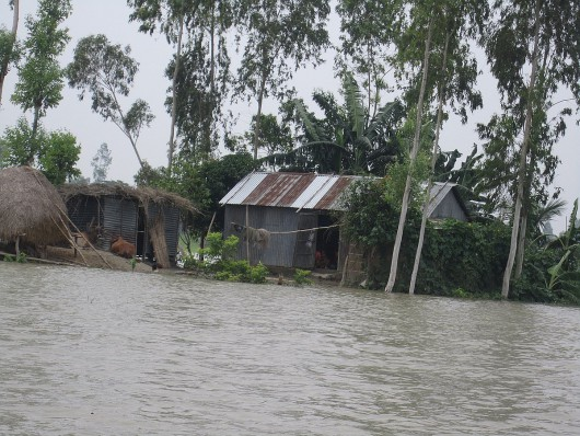 San Martin, Peru - Ulewne deszcze doprowadziły do powodzi