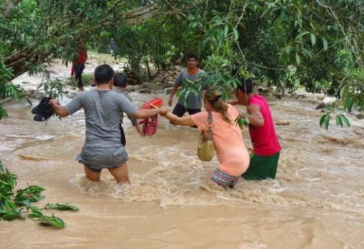 San Martin, Peru - Ulewne deszcze doprowadziły do powodzi -8