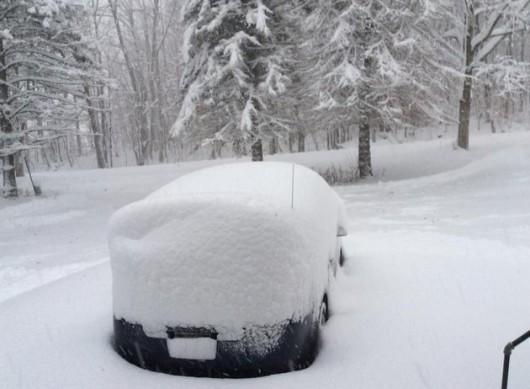 Stan Nowy Jork, USA - Przez efekt jezior spadło nawet 60 cm białego puchu -1