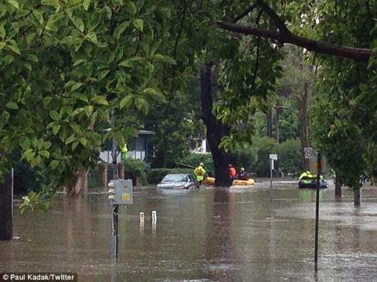 Australia - Gwałtowna powódź -3