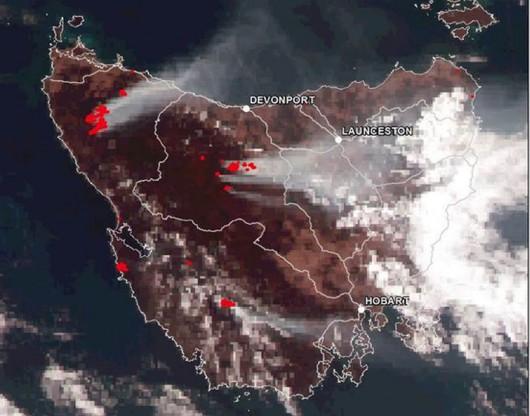 Australia - Ogromny pożar w Tasmanii, płoną drzewa mające ponad 1000 lat -2