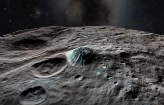 Ceres - powierzchnia planety, góra Ahuna Mon