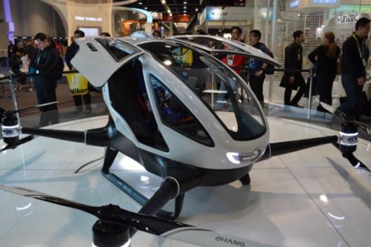 EHang 184-pierwszy dron pasażerski prezentowany na targach CES