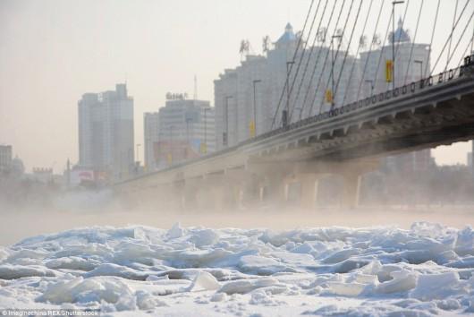 Hebei, Chiny - Miejscami temperatura gwałtownie spadła do -43 st.C -5