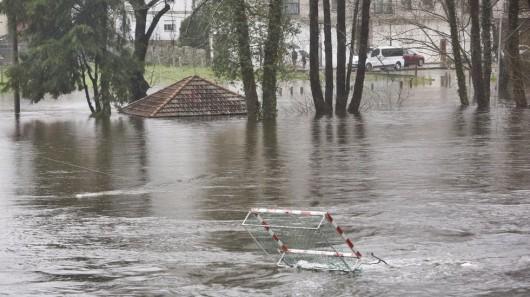 Hiszpania - Obfite opady deszczu w Galicji -1