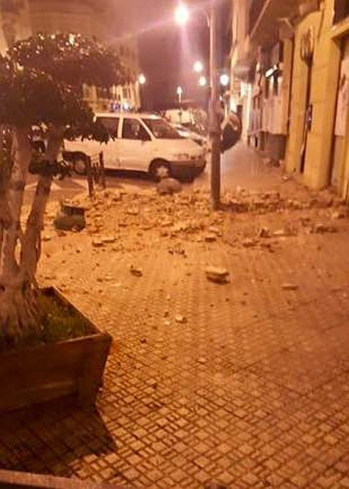 Melilla po trzęsieniu ziemi