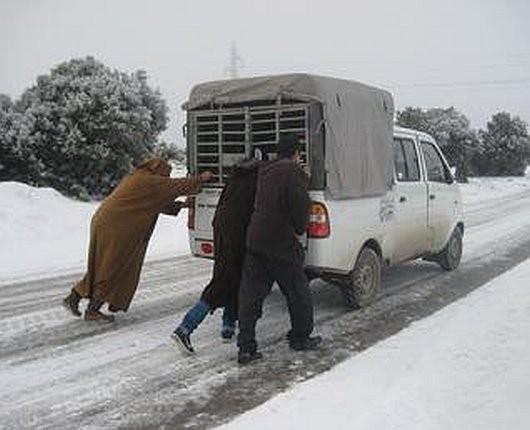 Metr śniegu w Tunezji i nadal pada -3