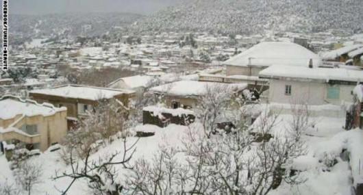 Metr śniegu w Tunezji i nadal pada -4