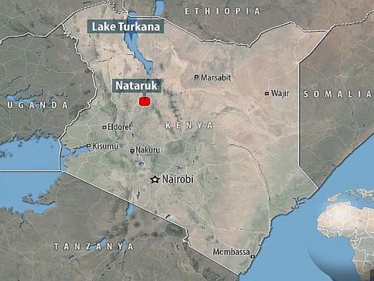 Miejsce wykopaliska w pobliżu laguny Nataruk. 30 km od j.Turkana