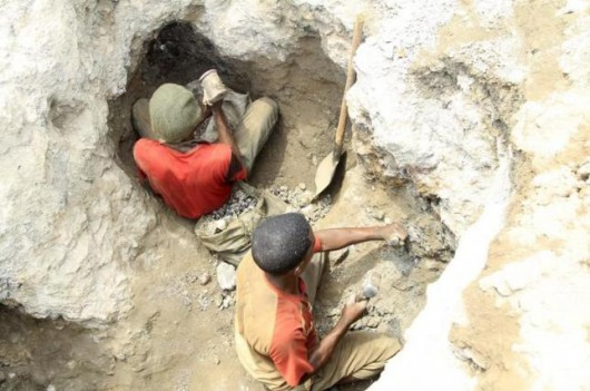 Artisanal miners work at a cobalt mine-pit in Tulwizembe, Katanga province, Democratic Republic of Congo