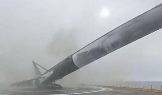 Nieudana próba lądowania rakiety Falcon 9
