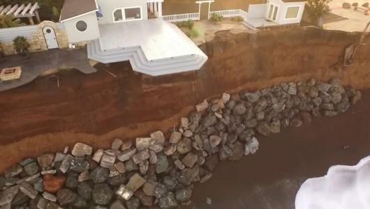 Pacifica domy nad urwiskiem klifu