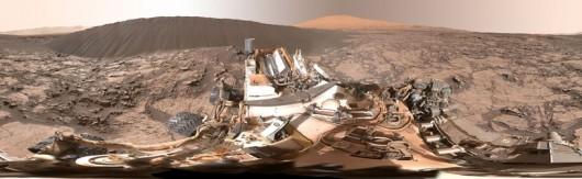 Panorama zarejestrowana przez łazik Curiosity NASA/JPL