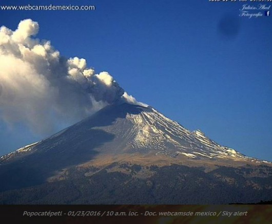 Popocatepetl 23.01.2016 10:00