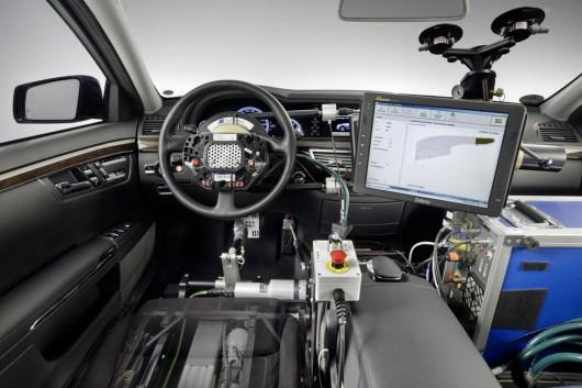 Wnętrze samochodu Google'a