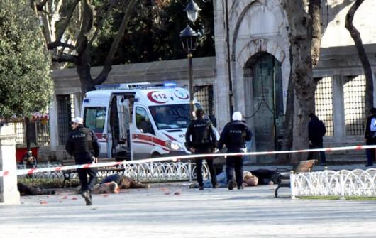 Turcja - Potężny wybuch na placu Sultanahmet w Stambule -5