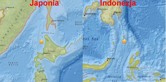 Tzręsienie ziemi, Japonia i Indonezja