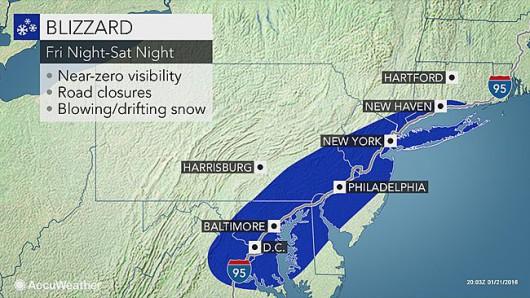 USA - W najbliższych godzinach wschodnie wybrzeże czeka potężna śnieżyca 3