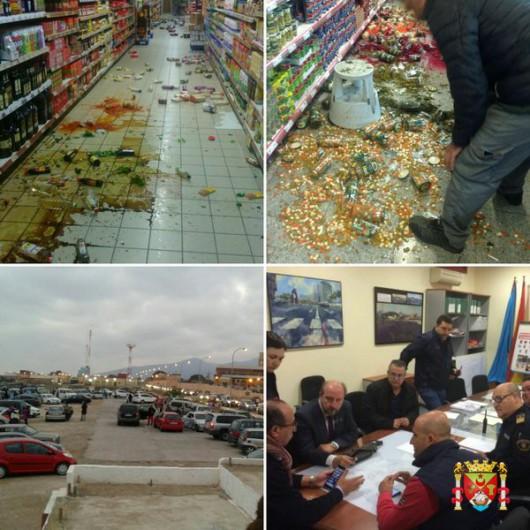 Uszkodzenia po trzęsieniu ziemi Melilla