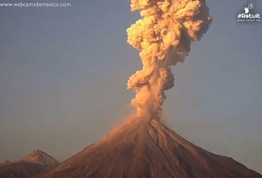 Wybuch wulkanu Colima w Meksyku