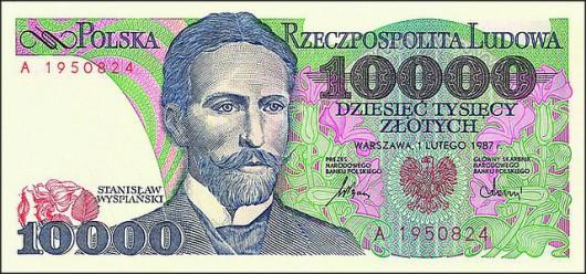 10 000 - po denominacji 1 zł