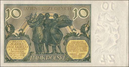 Po denominacji marki polskiej - 10 złotych z 1926r