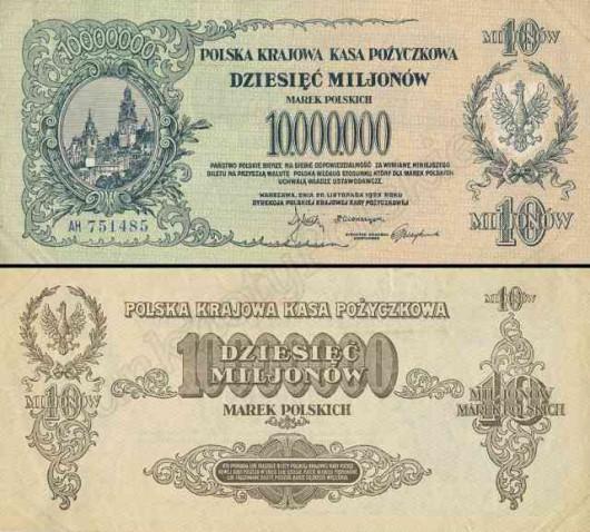 Banknot - marka polska 10 000 000mkp 1923