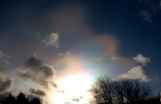 Chmury stratosferyczne nad UK