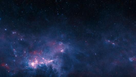 Fragment Drogi Mlecznej z ujęć radioteleskopu APEX
