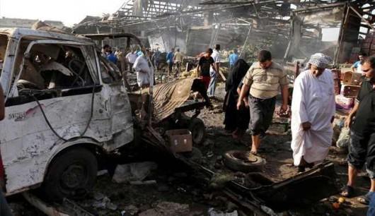 Irak - Potężny, podwójny zamach terrorystyczny w Bagdadzie, zginęło 70 osób, ponad 100 rannych