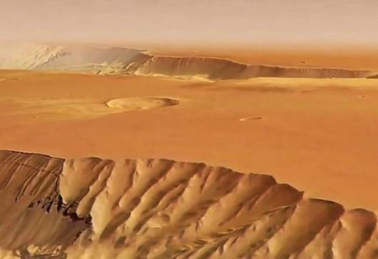 Kanion na Marsie Valles Marineris