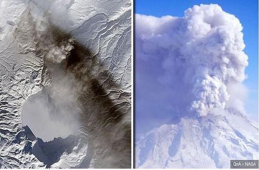 Wulkan Karymski wybucha krótko po trzęsieniu ziemi