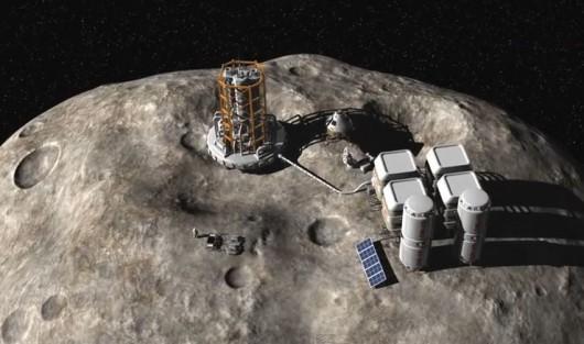 Luksemburg zamierza wydobywać minerały z asteroid Foto: YT