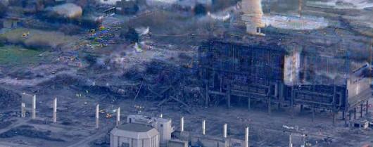 Oxfordshire, UK - Potężna eksplozja na terenie elektrowni Didcot A