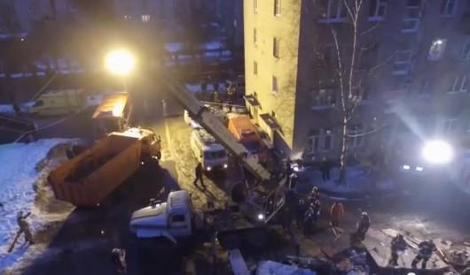 Rosja - eksplozja gazu w Jarosławiu.