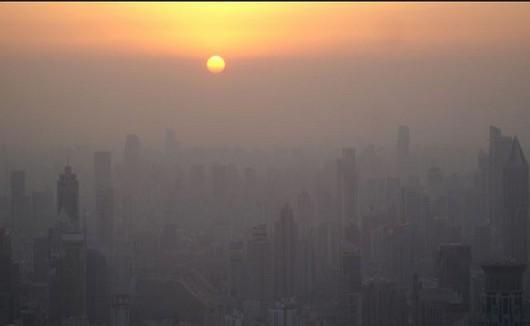 Chiny - smog nad miastem